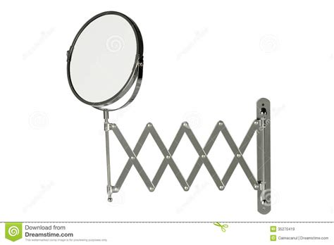 Round Stainless Steel Magnifying Mirror Stock Image