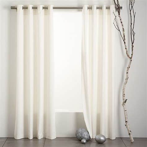 ivory drapes velvet grommet curtain ivory west elm