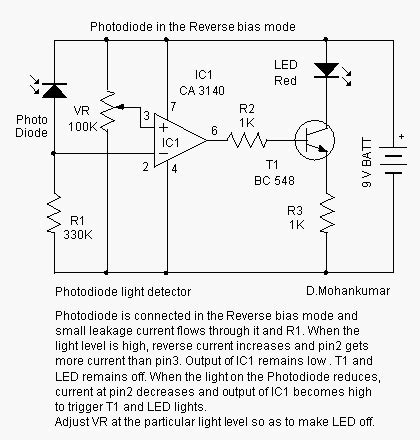 pin diode bias circuit photodiode design note electronic boy for you