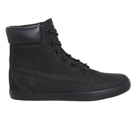 black timberland boots for timberland glastenbury 6 inch leather boots in black lyst