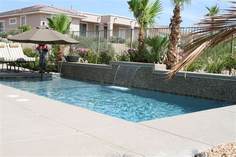 Pool Patio Design by Fabulous Stacked Stones Waterfall Pool Ideas With Umbrella