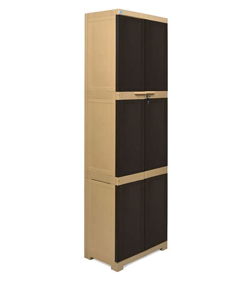 nilkamal freedom 2 door cabinet with 2 drawers brown nilkamal freedom 2 door large cabinet brown buy