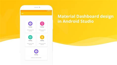 dashboard pattern android exle material home page design dashboard in android studio