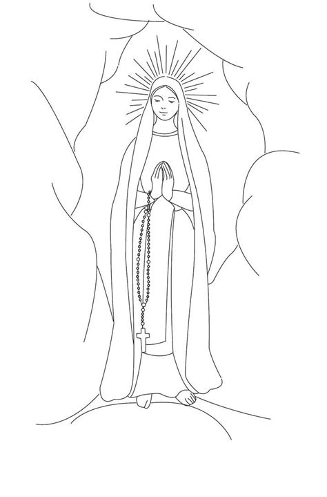immaculate conception coloring page coloring pages