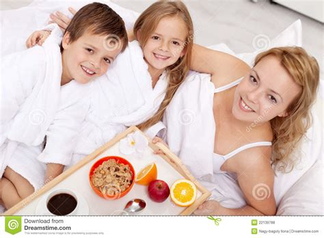 bed moms breakfast in bed for mom royalty free stock photos image 22139788