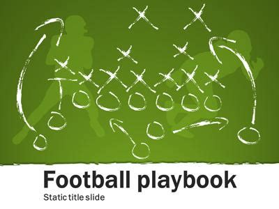 playmaker templates football playbook a powerpoint template from
