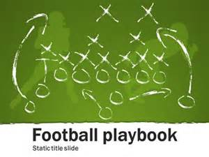 Football Play Template by Football Playbook A Home And Lifestyle Powerpoint
