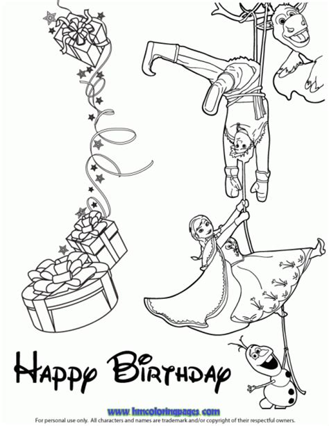 frozen coloring pages happy birthday h m coloring pages