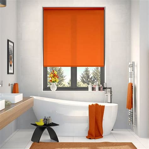 red bathroom blinds orange roller blinds bright funky zesty blinds 2go