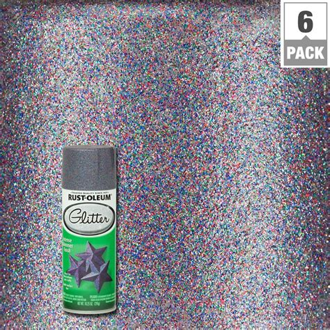 Mixing Silver And Gold Home Decor rust oleum specialty 10 25 oz purple glitter spray paint