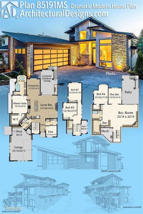 architectural designs modern house plan ms