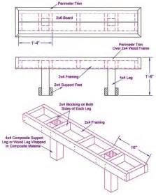 Hickory Handrail Wooden Deck Bench Plans Free