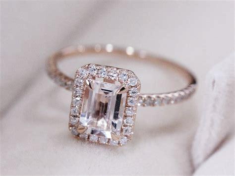 Pink Morganite 4 93ct Pink Emerald vs 5x7mm pink morganite ring 14k gold ring emerald