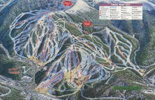 winter park colorado ski map year published 1991