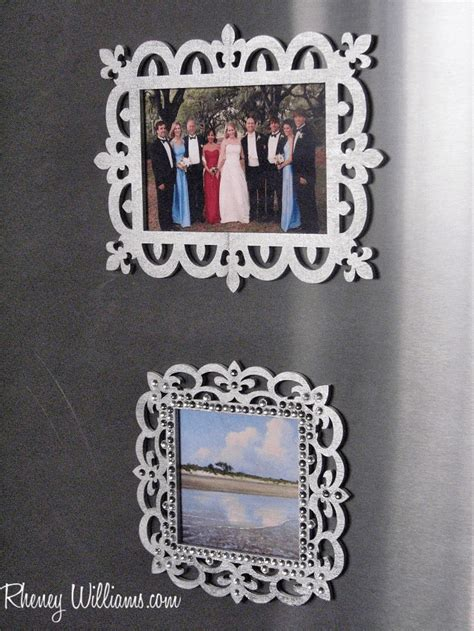 diy magnetic refrigerator picture frames
