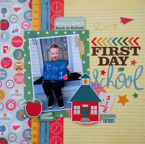 scrapbook layout first day of school 234 best school scrapbook layouts images on pinterest