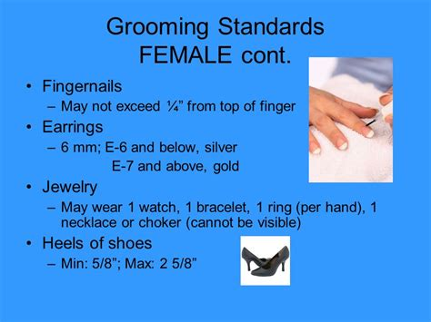 navy grooming standards for women basic military requirements ppt download