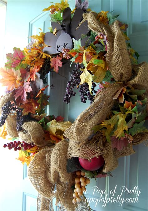 top 28 decorate wreaths fall fall burlap wreath a pop of pretty canadian home