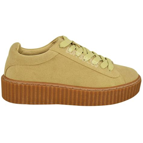 womens creeper trainers sneakers platform