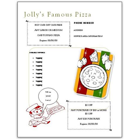 need free pizza menu templates them here to use