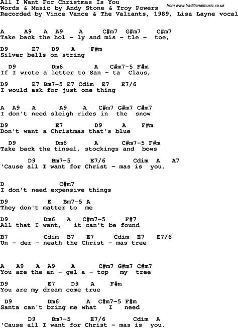 printable lyrics all i want for christmas is you all i want for christmas is you chords 2015confession