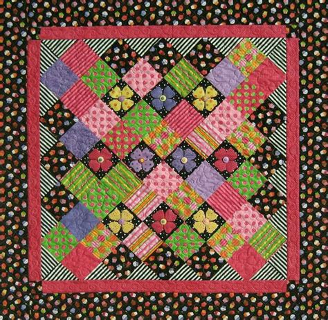 quilt pattern on point accent on charms straight to the point series quilt pattern