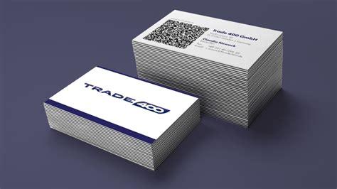 Visitenkarten Mit Qr Code Drucken by Neue Visitenkarten F 252 R Trade 400 Mit Qr Code Realkonzept
