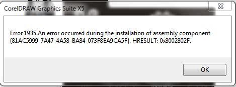 corel draw x5 error 1935 i can t installing corel draw x5 to my laptop coreldraw