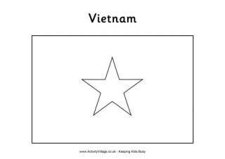 vietnam flag printables