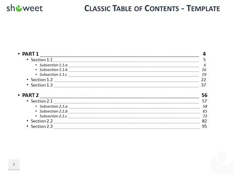 Table Of Content Templates For Powerpoint And Keynote Powerpoint Table Of Contents Template