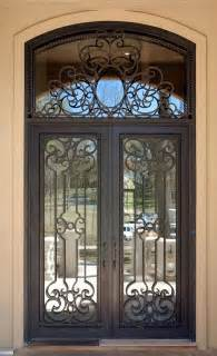Metal Exterior Doors With Glass 25 Best Ideas About Wrought Iron Doors On
