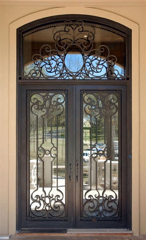 Wrought Iron Front Doors Wrought Iron Entry Doors Double Iron Front Doors For Homes