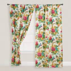 Tropical Window Curtains Parrot Ornithology Curtain Tropical Curtains By Cost