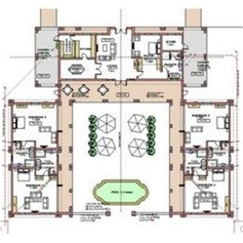 horseshoe shaped house plans house plans with pool house plans and architects on pinterest
