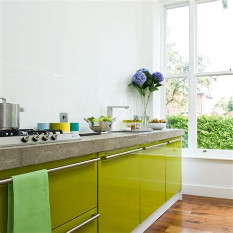 lime green kitchen ideas a contemporary lime green kitchen housetohome co uk