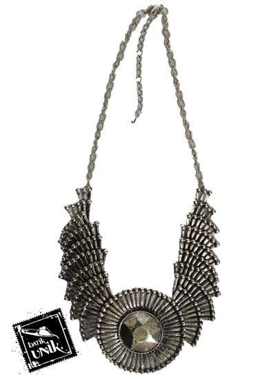 Kalung Coker 2 Susun 2 kalung coker tembaga bakar silver emas kalung etnik murah batikunik