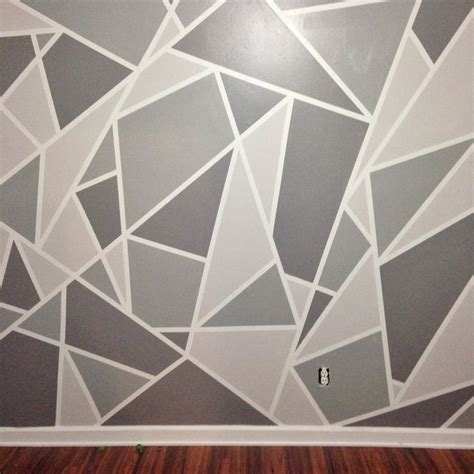 triangle pattern wall wall paint patterns pinterest painting bedroom tierra