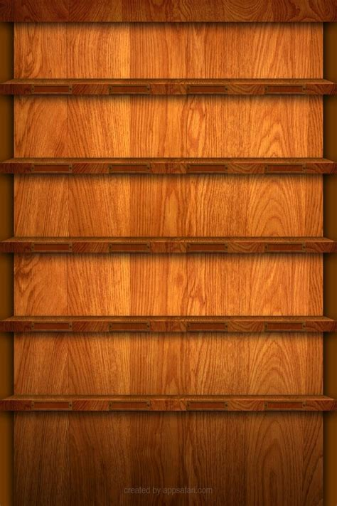 shelf wood shelves download iphone ipod touch android wallpapers backgrounds themes