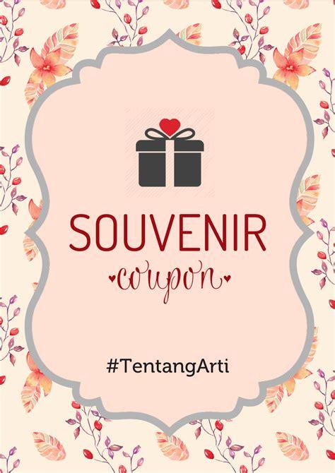Kupon Untuk Souvenir Pernikahan souvenir coupon mind palace