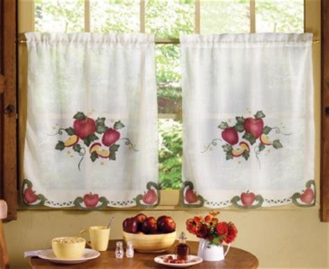 apple kitchen curtains country apple decor kitchen curtain set 2 panels 36 quot x