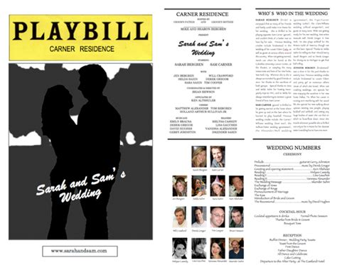 playbill programs weddingbee