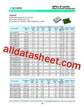 bowei integrated circuits co ltd mpll1669cd 200k datasheet pdf bowei integrated circuits co ltd