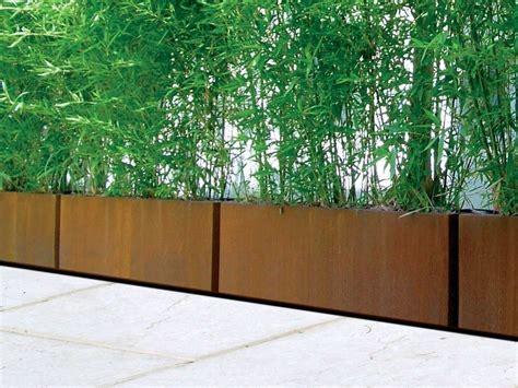 fioriere corten fioriera in acciaio corten bamb 217 by metalco design