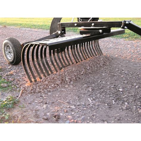yard tuff 48 wide landscape rake 681427 atv implements