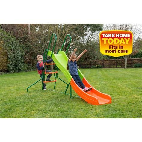 outdoor slides and swings smyths 8ft slide 163 79 99 garden slide pinterest