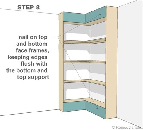 build your own corner bookshelves