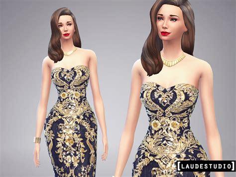 Longdress Cc emily cc finds laudestudio dress barroco sims 4
