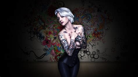 tattoo girl background tattoo girl wallpaper wallpapersafari