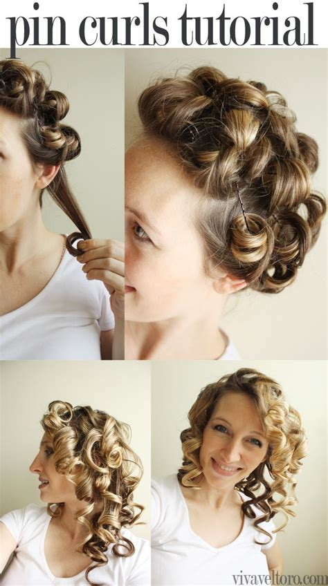 diy hairstyles with bobby pins simple pin curls tutorial so cute and easy to diy