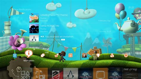 themes ps4 for ps3 new ps4 dynamic theme released with littlebigplanet 3